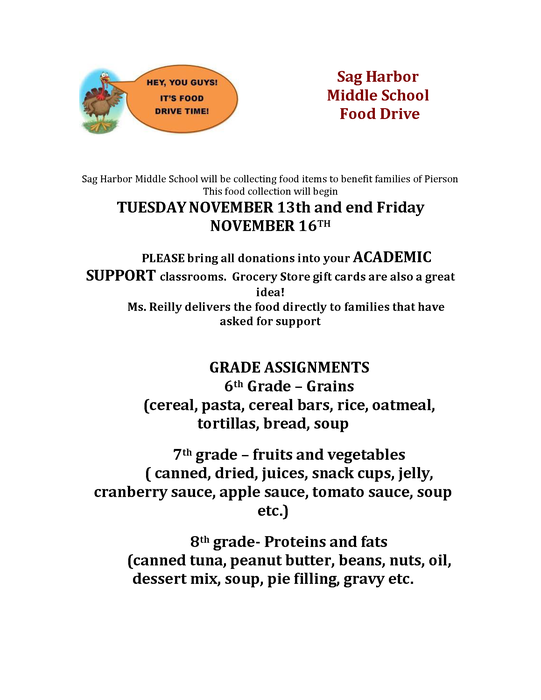 MS Fall Food Drive