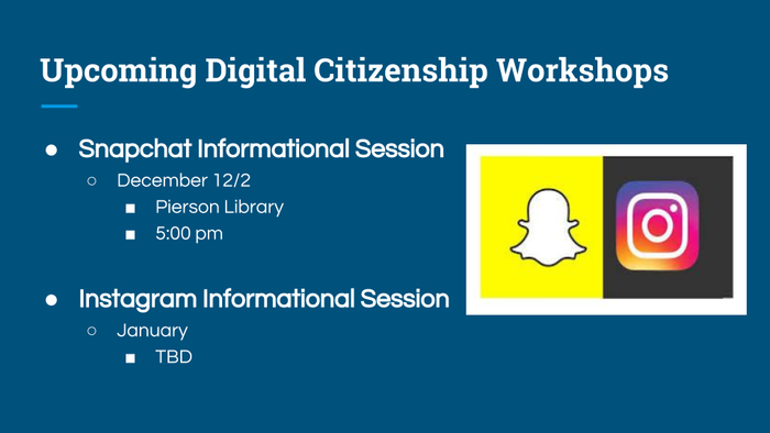 Digital Citizen upcoming workshop