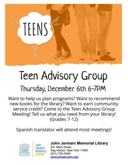 JJL Teen Advisory Group